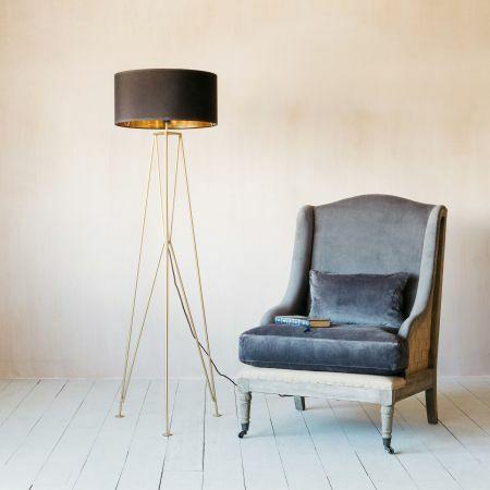 Maxwell Gold Tripod Floor Lamp