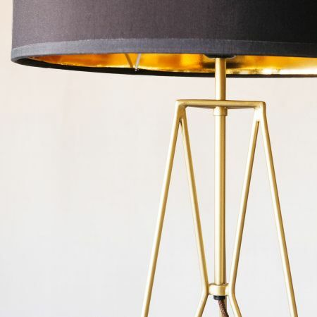 Maxwell Gold Tripod Table Lamp