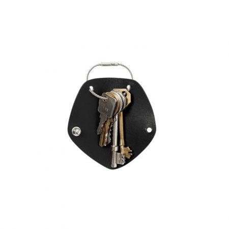 Black Simple Key Wrap