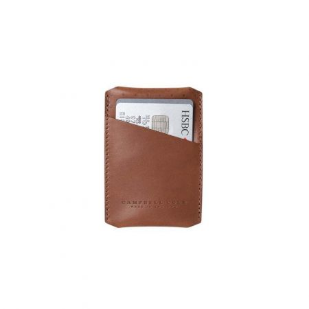 Tan Simple Card Holder