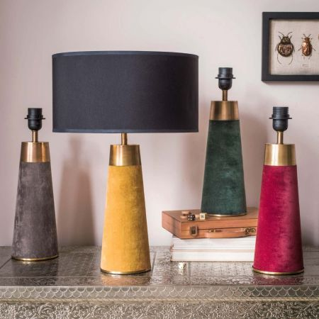 Montana Velvet Bedside Table Lamps