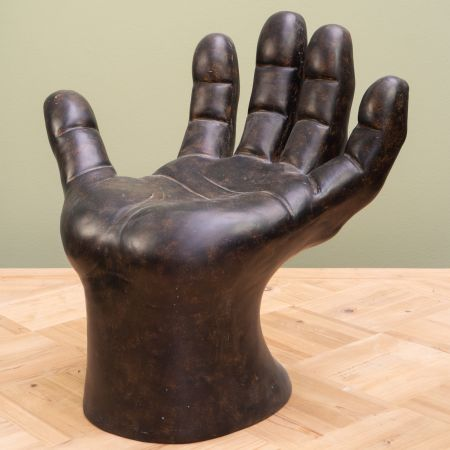 Black Hand Shaped Stool