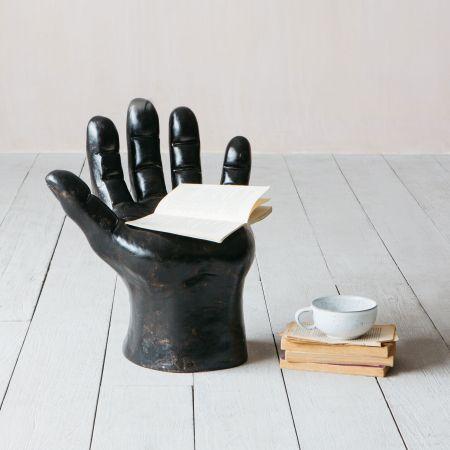 Black Hand Shaped Stool
