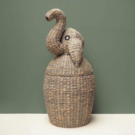 Rattan Elephant Basket