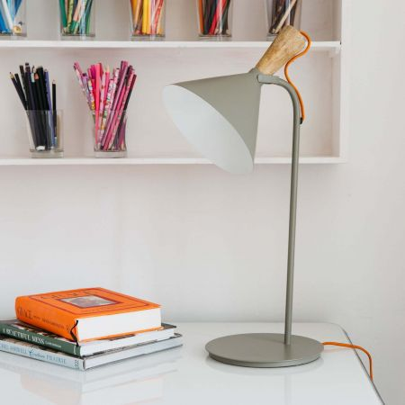 Viktor Grey Table Lamp