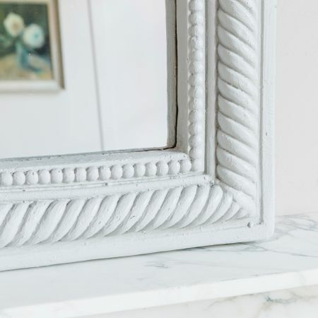 Grey Curved Rope Edge Mirror