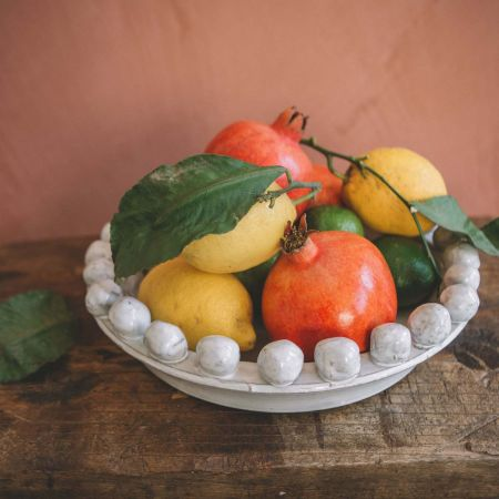 White Bobble Fruit Bowl