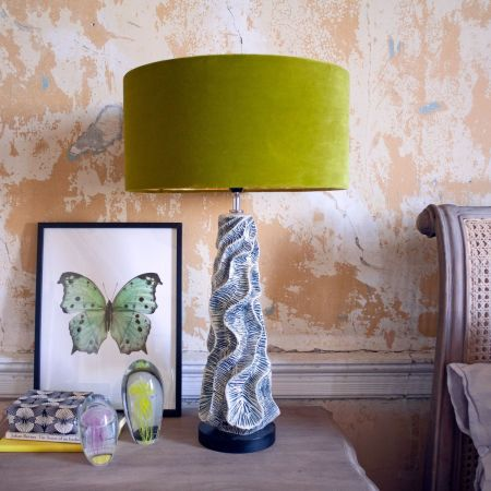Ceramic Wave Bedside Table Lamp