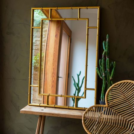 Gold Bamboo Mirror