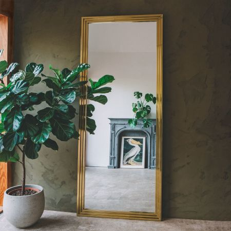 Stepped Gold Mirror
