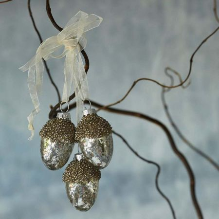 Three Hanging Acorns Decoration