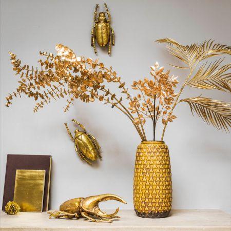 Mustard Patterned Vase
