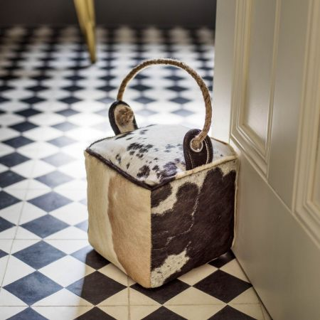 Cowhide Door Stop