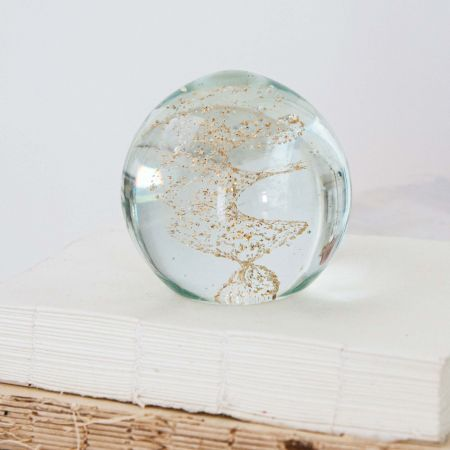 Gold Dust Paperweight
