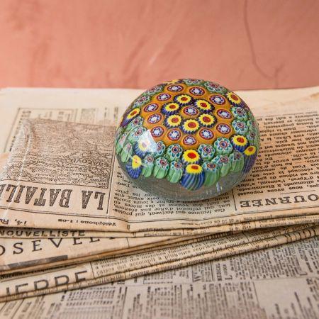 Green Urchin Paperweight