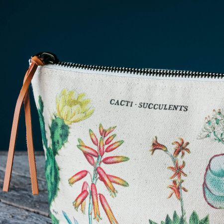 Succulents Vintage Pouch