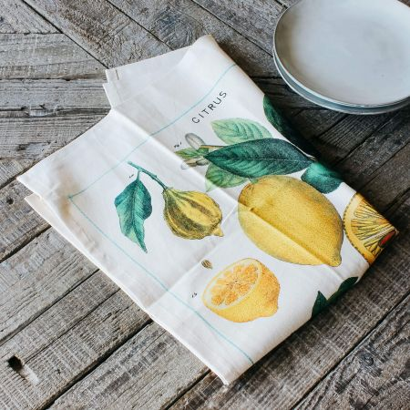 Citrus Vintage Tea Towel