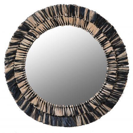 Black and Natural Grass Mirror