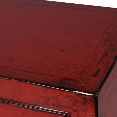 Lijang Red Chest of Drawers