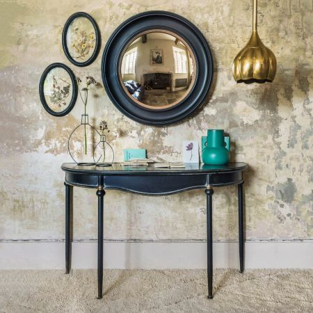 Black Curve Console Table