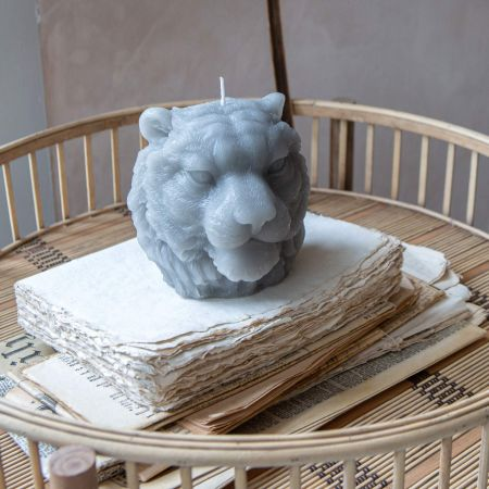 Tiger Head Candle