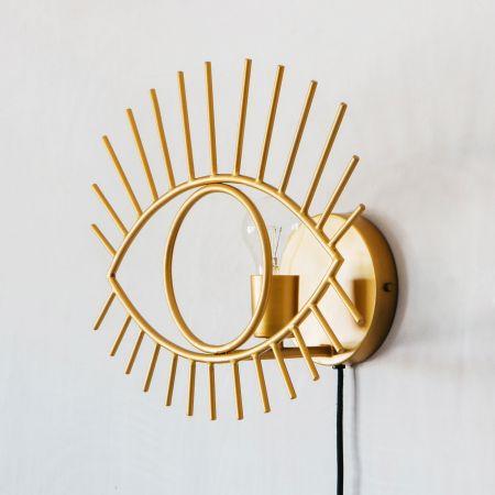 Golden Eye Wall Light