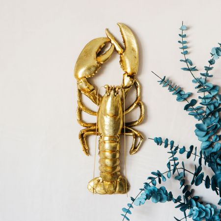 Gold Lobster Wall Decor