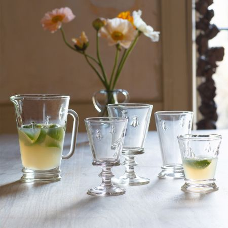 Etched Bee Glassware