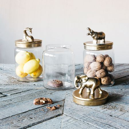 Gold Animal Lid Jars