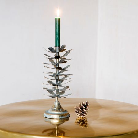 Large Pinecone Candle Holder