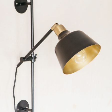 Nova Black and Gold Wall Light