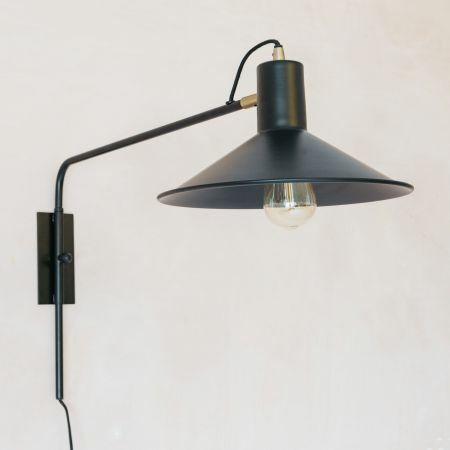 Mila Black and Gold Wall Light