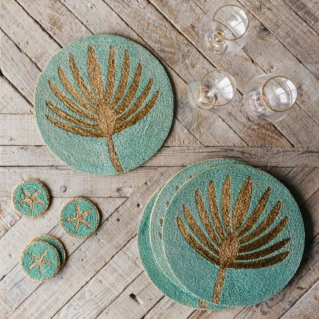 Beaded Coasters and Placemats
