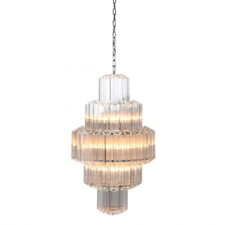 Slim Crystal Chandelier