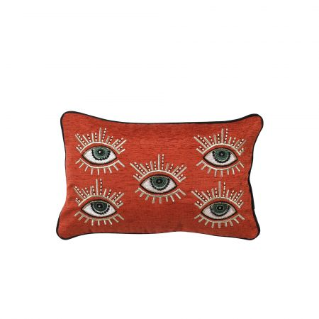 Orange Eye Print Cushion