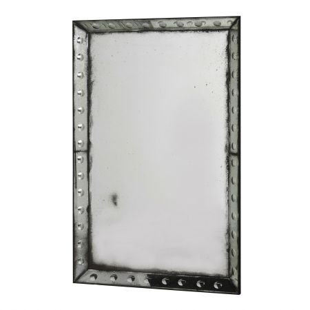 Rectangular Antique Bubble Mirror
