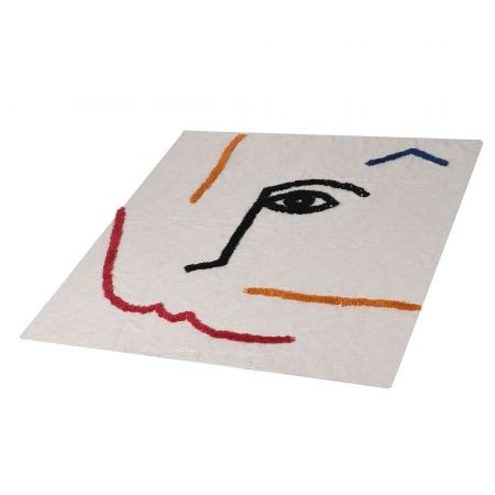 Abstract face print throw