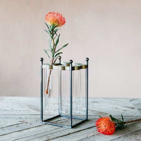 Industrial Test Tube Vase