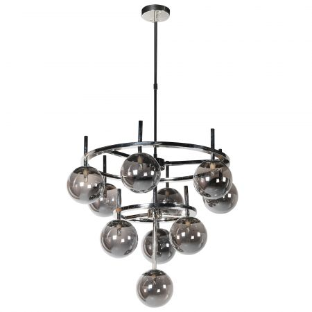 Smoke Nickel Globe Chandelier