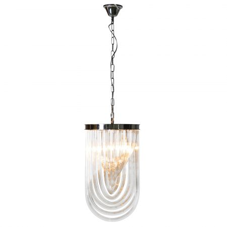 Medium Curved Glass Chandelier