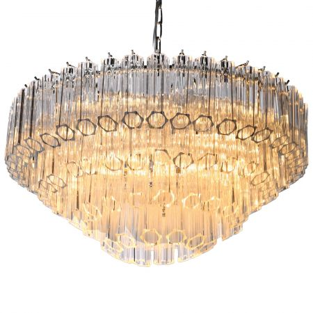 Four Tier Tubular Chandelier