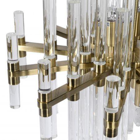 Medium Glass Rods Chandelier