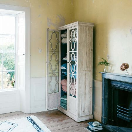 Tall Two Door Glazed Cabinet