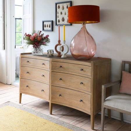 Gracie Six Drawer Sideboard