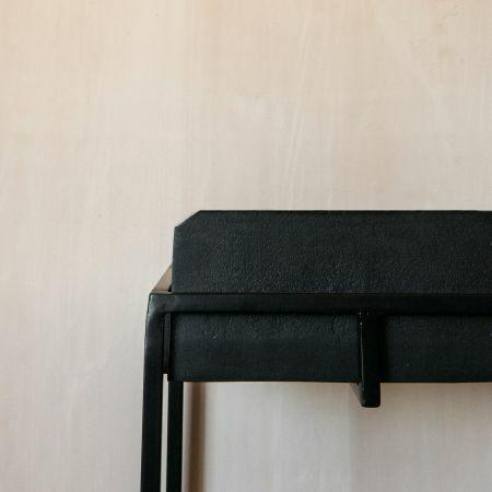 Noah Black Iron Console Table