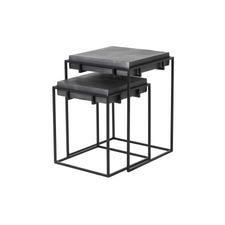 Noah Set of Two Iron Tables