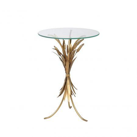 Gold Leaf Side Table