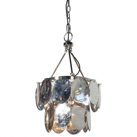 Small Silver Leaves Chandelier