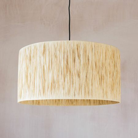 Natural Raffia Pendant Light