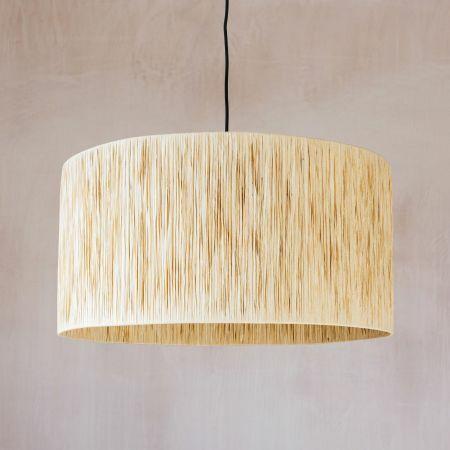 Natural Raffia Pendant Light
